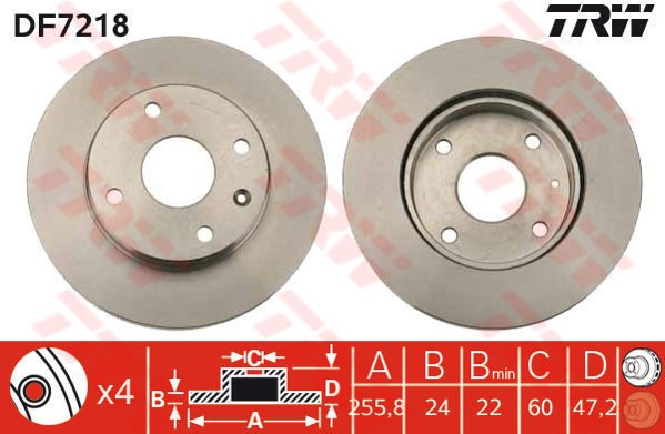 Brake Disc Front Axle Chevrolet Daewoo Oe 24537780 9053332