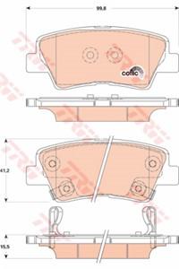 Genuine Hyundai I40 Rear Brake Pads 583023ZA70