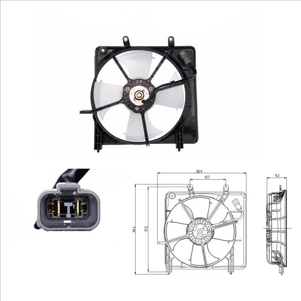 fan radiator   radiator honda jazz ii oe  pwa   rme   pme
