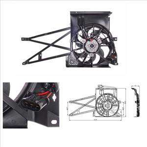 Elektromotor, radiator ventilator, Foran kjøleren, Bak kjøleren