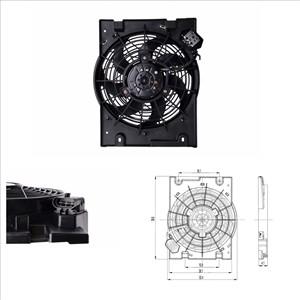 Elektromotor, radiator ventilator, Bak kjøleren