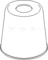 deksel/folder, støtdemper, Foran