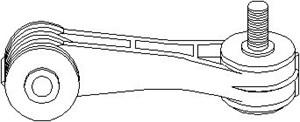 Stång/stag, krängningshämmare, Framaxel, Fram, höger eller vänster, Höger, Vänster