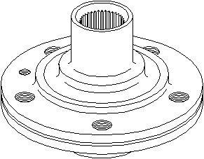 Hjulnav, Bakaxel, Framaxel, Bak, höger eller vänster, Fram, höger eller vänster