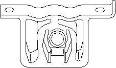 Hållare, avgassystem, Främre ljuddämpare