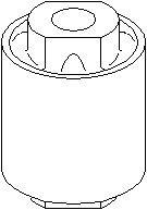 Ophæng, bærearm, Bag, På indersiden, Foraksel, højre eller venstre, Nede