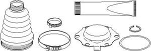 Reservdel:Audi A2 Dammskydd, drivaxel, Inre, Höger fram, Vänster fram