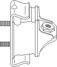 Moottorin tuki, Eteen, oikea, Eteen, oikea tai vasen puoli, Eteen, vasen