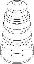 Bildel: Genomslagsgummi, stötdämpare, Bak, höger eller vänster