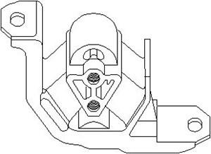 Motorkudde, Vänster fram