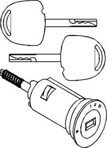 Lukkesylinder, tenningslås