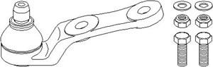 Kulled / Spindelled, Fram, höger eller vänster, Nedre framaxel, Nedre