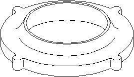 Genomslagsgummi, stötdämpare, Fram, höger eller vänster, Upptill