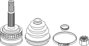 Reservdel:Opel Combo Drivknut, Yttre, Höger fram, Vänster fram