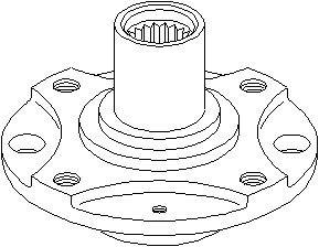 Hjulnav, Foraksel, højre eller venstre