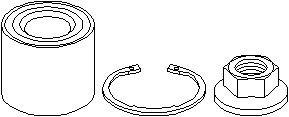 Hjullagerssats, Bakaxel, Bak, höger eller vänster