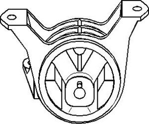 Reservdel:Opel Zafira Motorkudde, Höger fram