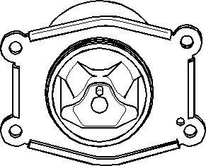 varaosat:Opel Zafira Moottorin tuki, Eteen, vasen