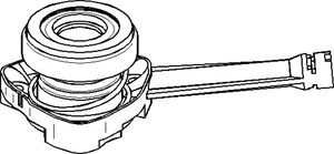 Slavesylinder, clutch