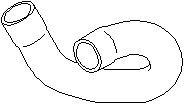 Reservdel:Opel Zafira Kylarslang, Upptill