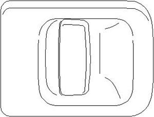 Dørgreb, Bagved til højre, Køretøjets bagdør