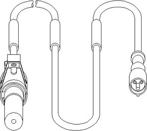 ABS-givare, Sensor, hjulvarvtal, Bak, Bakaxel, Bak, höger eller vänster