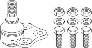 Kulled / Spindelled, Framaxel, Fram, höger eller vänster, Höger, Nedre, Vänster