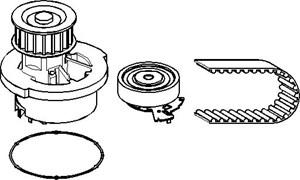 Vannpumpe + registerreimssett