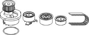 Reservdel:Opel Combo Kamremskit med vattenpump