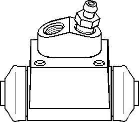 Hjulcylinder, Bak, Bak, höger eller vänster, Höger, Vänster