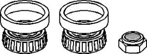 Hjullagerssats, Framaxel, Bak, höger eller vänster, Fram, höger eller vänster