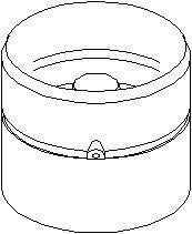 Vevtapp / ventillyftare, Utloppssida