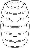 Reservdel:Ford Escort Genomslagsgummi, stötdämpare, Fram, höger eller vänster
