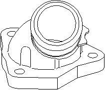 Reservdel:Ford Escort Rördel, motorkylning