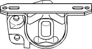 Reservdel:Ford Ka Motorkudde, Vänster fram