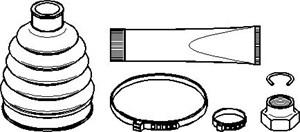 Belgsett, drivaksel, Hjulside, Framaksel høyre, Framaksel venstre