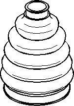 Dammskydd, drivaxel, Yttre, Fram, höger eller vänster