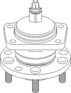 Wheel Bearing Kit, Front axle, Rear axle, Rear, left or right