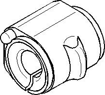 Bussning, krängningshämmare, Fram, höger eller vänster