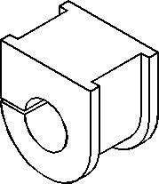 Bussning, krängningshämmare, Fram, höger eller vänster, Höger, Vänster