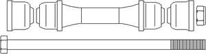 Stång/stag, krängningshämmare, Fram, höger eller vänster