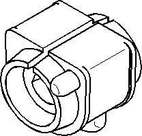 Bussning, krängningshämmare, Inre, Bak, höger eller vänster