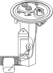 Reservdel:Ford Escort Bränslepump, I bränslebehållaren