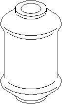Lagring, bærebru, Foran, Innvendig, Foran, høyre eller venstre