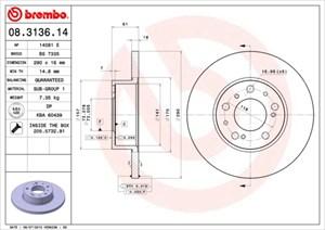 Reservdel:Citroen C2 Bromsskiva, Framaxel