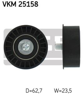 Medløberhjul, tandrem, Oppe til venstre