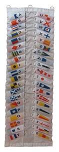 Bildel: SIGNALSTÄLL - SET 40 FLAGGOR - TOTALLÄNGD 20-24 M