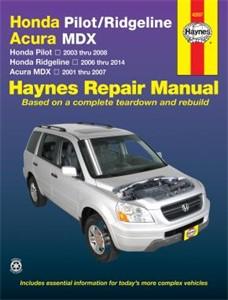Haynes Reparationshandbok, Honda Pilot/Acura MDX, Universal