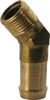 Slangsockel - Vinkel 45 grader - Utv. Mässing