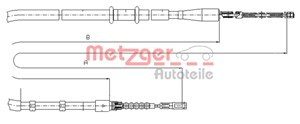 Reservdel:Audi 80 Vajer, parkeringsbroms, Bak, Höger bak, Vänster bak